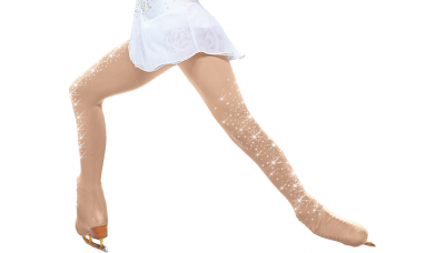 ChloeNoel Over-the-Boot Tights with Crystals