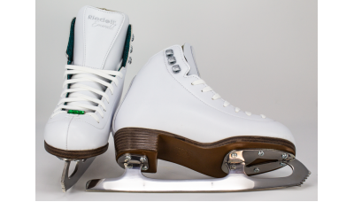 Riedell Misses' 19 Emerald Figure Skate, White