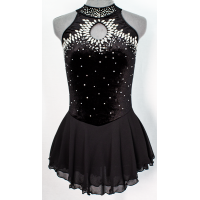 Joyce+Co Jeweled Loop Velvet Skating Dress- SALE!