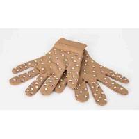 ShinyHandz Rhinestone Competition Gloves, Nude