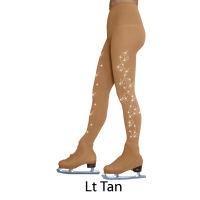ChloeNoel Over-the-Boot Tights with Crystal Swirls
