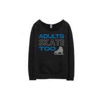 Adults Skate Too Glitter Edition Eco Fleece Sweatshirt