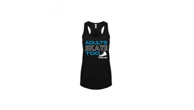 Adults Skate Too Racerback Tank Top