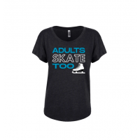 Adults Skate Too Dolman T-Shirt