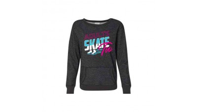 Adults Skate Too Retro Glitter Sweatshirt