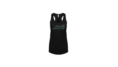 Adults Skate Too Cursive Racerback Tank Top