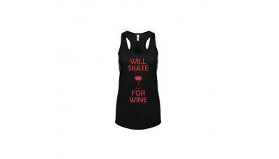 Adults Skate Too Will Skate For Wine Tank Top