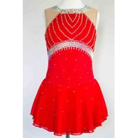 Elite Skate Wear Sleeveless Red Dress