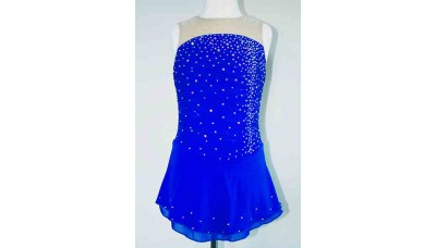 Elite Skate Wear Sleeveless Royal Competition Dress