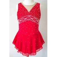 Elite Skate Wear Vivid Red Competition Dress