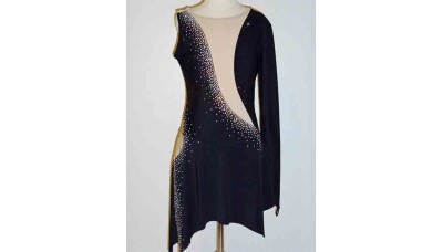 Elite Skate Wear Split Skirt Black Dress