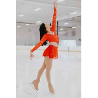 Elite Skate Wear Cut-Out Red Dress
