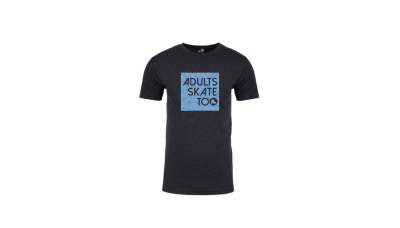 Adults Skate Too Unisex Vintage Black T-Shirt